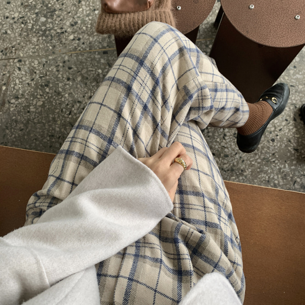 urban check slacks ( 밴딩 슬랙스 )